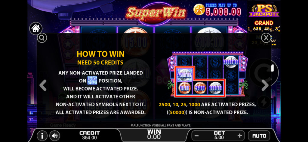 วิธีเอาชนะ Super Win สล็อตออนไลน์ มีทั้งหมด 50 payline