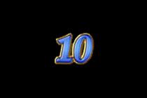 สัญลักษณ์หมายเลข 10 สล็อตผลไม้โชคดี
