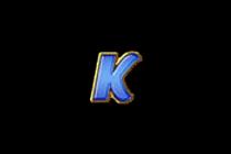 สัญลักษณ์อักษร K สล็อตผลไม้โชคดี